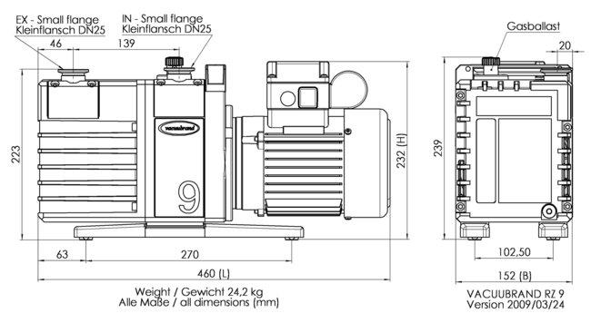 RZ 9 - 尺寸规格表