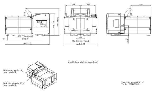 ME 8C NT - 尺寸规格表