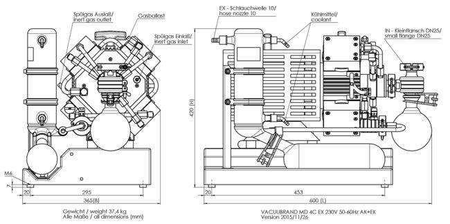 MD 4C EX +AK+EK - 尺寸规格表