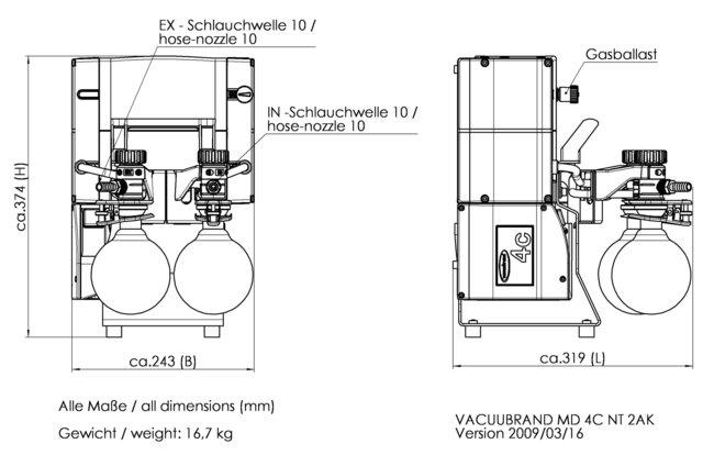 MD 4C NT +2AK - 尺寸规格表