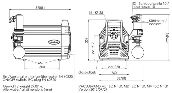 MD 12C NT +EK - 尺寸规格表