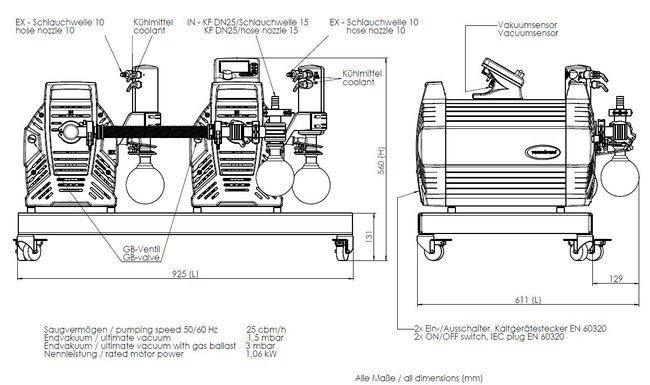 PC 3012 NT VARIO DUO - 尺寸规格表