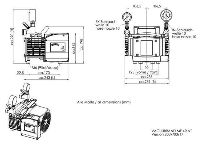 ME 4R NT - 尺寸規格表