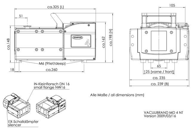 MD 4 NT - 尺寸规格表