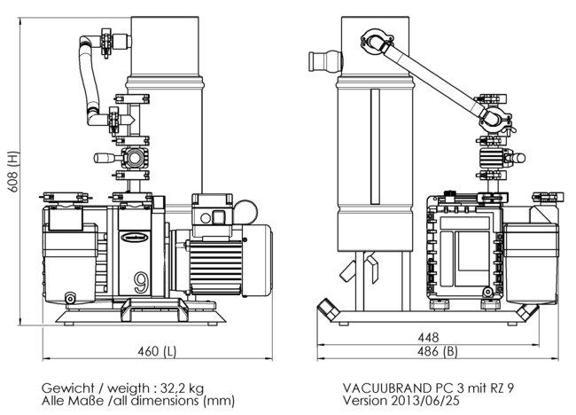 PC 3 / RZ 9 - 尺寸規格表