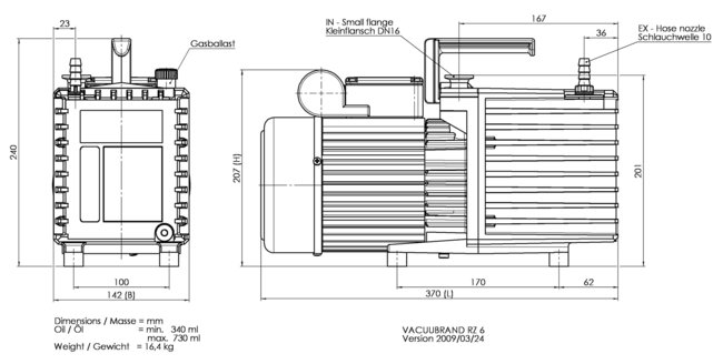 RZ 6 +FO +VS 16 +VACUU·VIEW extended - 尺寸规格表