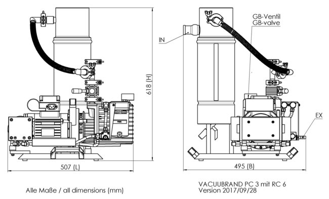 PC 3 / RC 6 - 尺寸規格表
