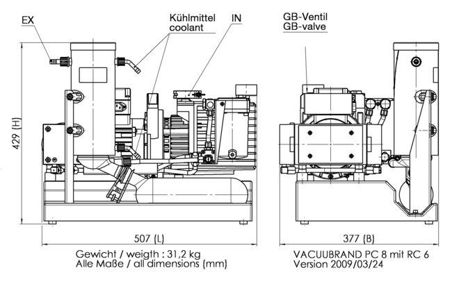 PC 8 / RC 6 - 尺寸规格表