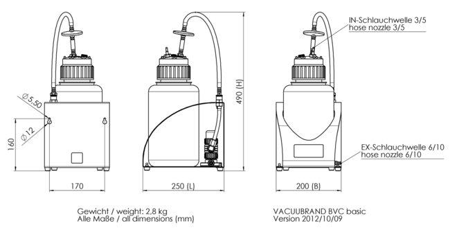 BVC basic - 尺寸规格表