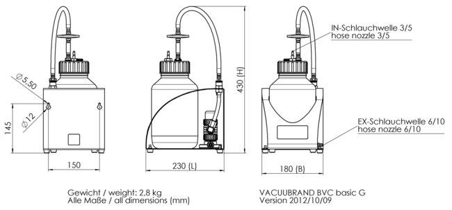 BVC basic G - 尺寸规格表