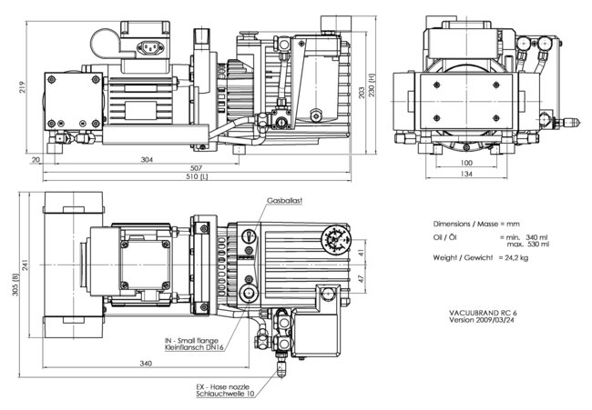 RC 6 - 尺寸規格表